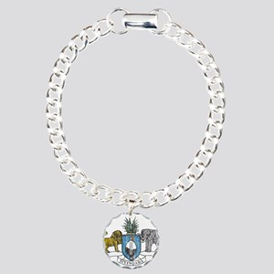 Swaziland Coat Of Arms Charm Bracelet, One Charm