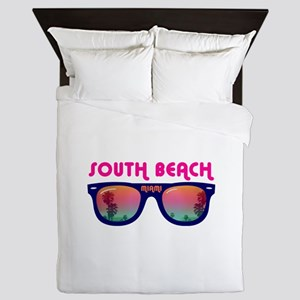 South Beach Miami Queen Duvet