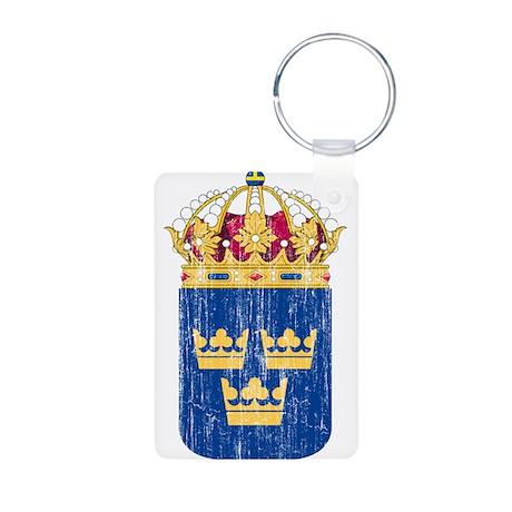 Sweden Lesser Coat Of Arms Aluminum Photo Keychain