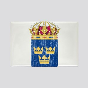 Sweden Lesser Coat Of Arms Rectangle Magnet