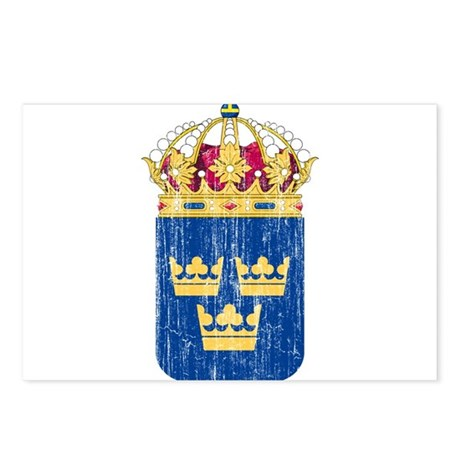 Sweden Lesser Coat Of Arms Postcards (Package of 8