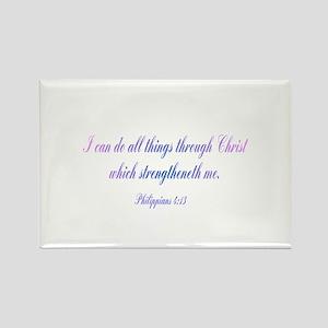 Philippians 4:13 Rectangle Magnet