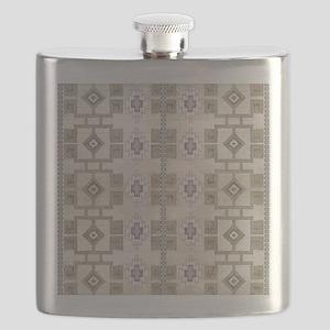Navajo Pattern Desert Sand Lavender Rustic W Flask