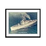 USS McMORRIS Framed Panel Print