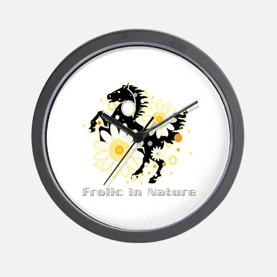 Frolic in Nature Wall Clock
