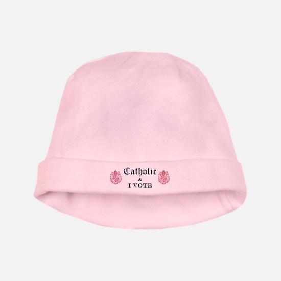 Catholic I Vote baby hat