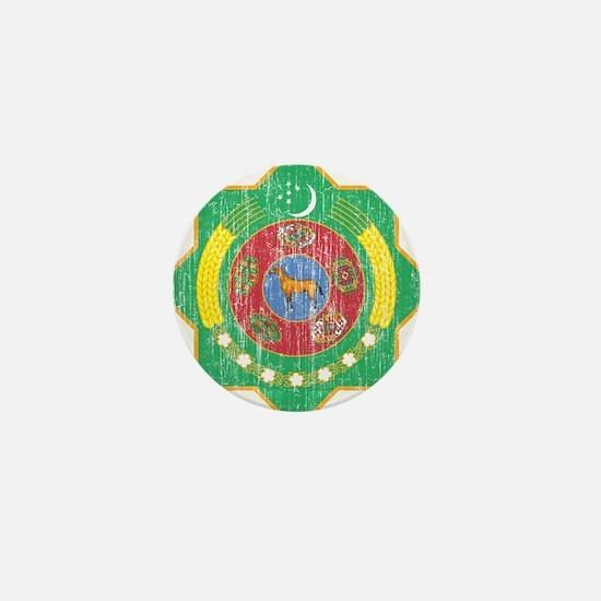 Turkmenistan Coat Of Arms Mini Button (10 pack)