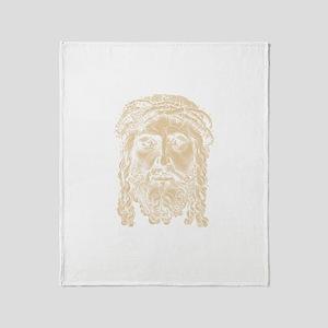 Jesus Face V2 Throw Blanket