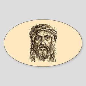 Jesus Face V1 Sticker (Oval)