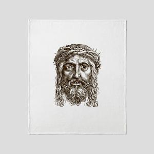 Jesus Face V1 Throw Blanket