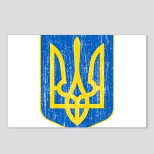 Ukraine Lesser Coat Of Arms Postcards (Package of