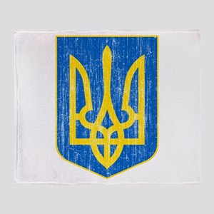 Ukraine Lesser Coat Of Arms Throw Blanket