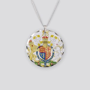 United Kingdom Coat Of Arms Necklace Circle Charm