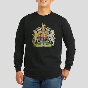 United Kingdom Coat Of Arms Long Sleeve Dark T-Shi
