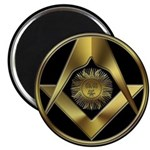 Masonic Black Sun Magnet