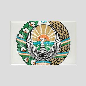 Uzbekistan Coat Of Arms Rectangle Magnet