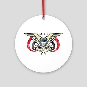 Yemen Coat Of Arms Ornament (Round)