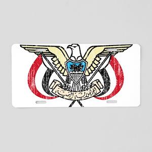 Yemen Coat Of Arms Aluminum License Plate