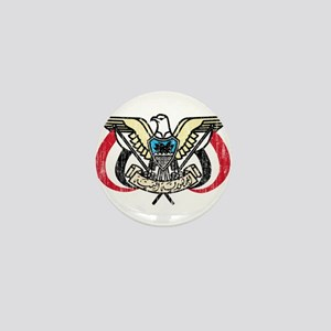 Yemen Coat Of Arms Mini Button