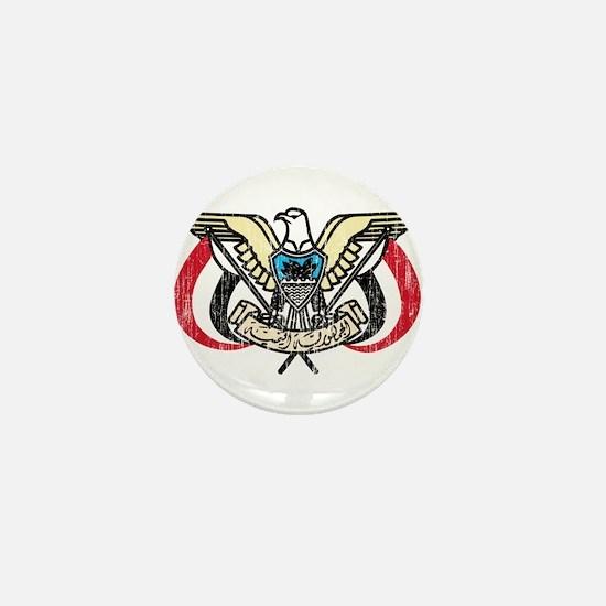 Yemen Coat Of Arms Mini Button