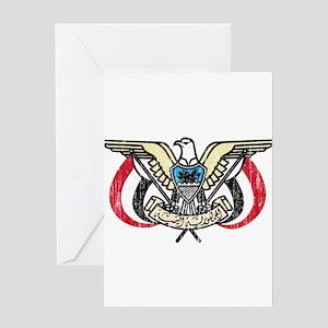 Yemen Coat Of Arms Greeting Card