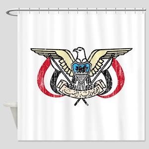 Yemen Coat Of Arms Shower Curtain