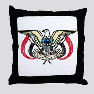 Yemen Coat Of Arms Throw Pillow
