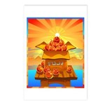 Art Shirt 'Red Fuji' Postcards (Package of 8)