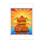 Art Shirt 'Red Fuji' Mini Poster Print