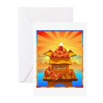 Art Shirt 'Red Fuji' Greeting Cards (Pk of 10)