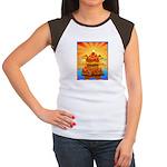 Art Shirt 'Red Fuji' Women's Cap Sleeve T-Shirt