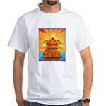 Art Shirt 'Red Fuji' White T-Shirt