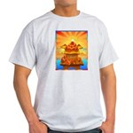 Art Shirt 'Red Fuji' Ash Grey T-Shirt