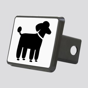 Black Poodle Rectangular Hitch Cover