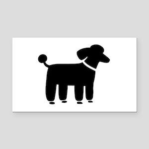 Black Poodle Rectangle Car Magnet