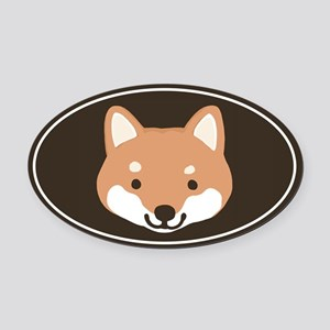 Shiba Inu Oval Car Magnet