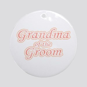 Grandma of the Groom Ornament (Round)