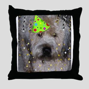 Party Animal Wheaton Terrier Throw Pillow