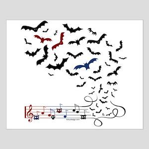 Bat Music Design Small Poster
