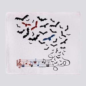 Bat Music Design Throw Blanket