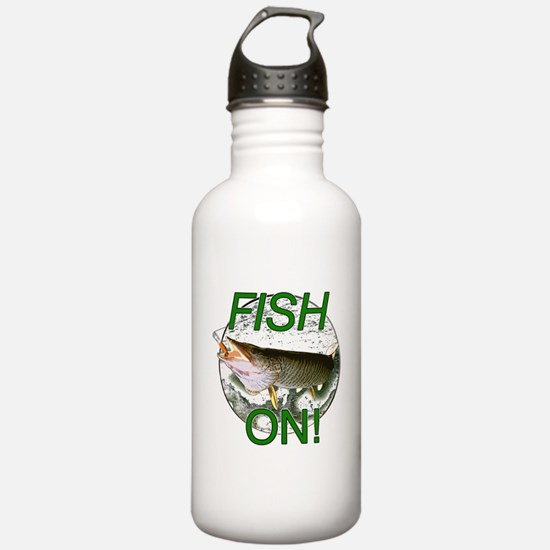 Musky fish on Water Bottle