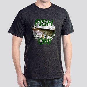 Musky fish on Dark T-Shirt
