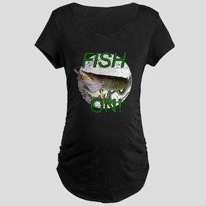 Musky fish on Maternity Dark T-Shirt