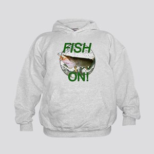 Musky fish on Kids Hoodie