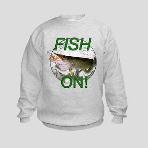 Musky fish on Kids Sweatshirt