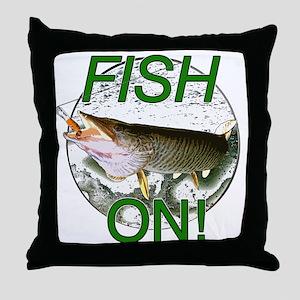 Musky fish on Throw Pillow