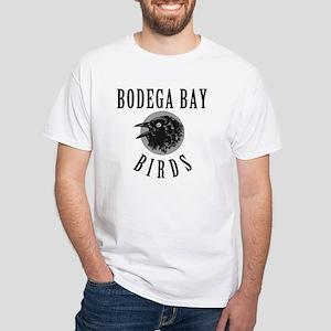 Bodega Bay Birds White T-Shirt