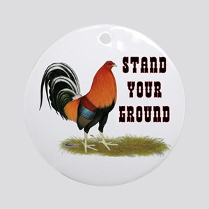 Stand Your Ground Rooster Ornament (Round)