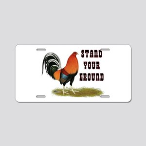 Stand Your Ground Rooster Aluminum License Plate