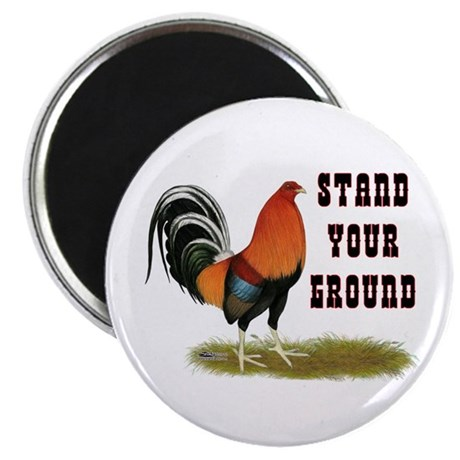 """Stand Your Ground Rooster 2.25"""" Magnet (10 pa"""